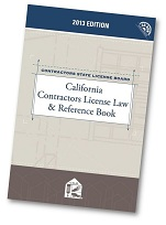 2013 Contractors License Law and Reference Book Cover